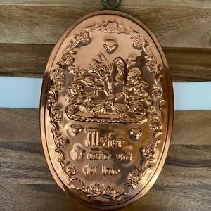 Vintage Copper Mold Mother another word for love